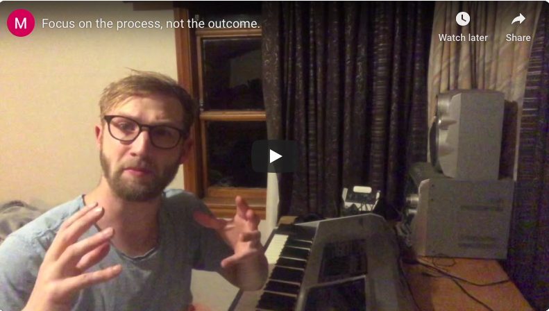"""""""Focus on the process, not the outcome."""""""